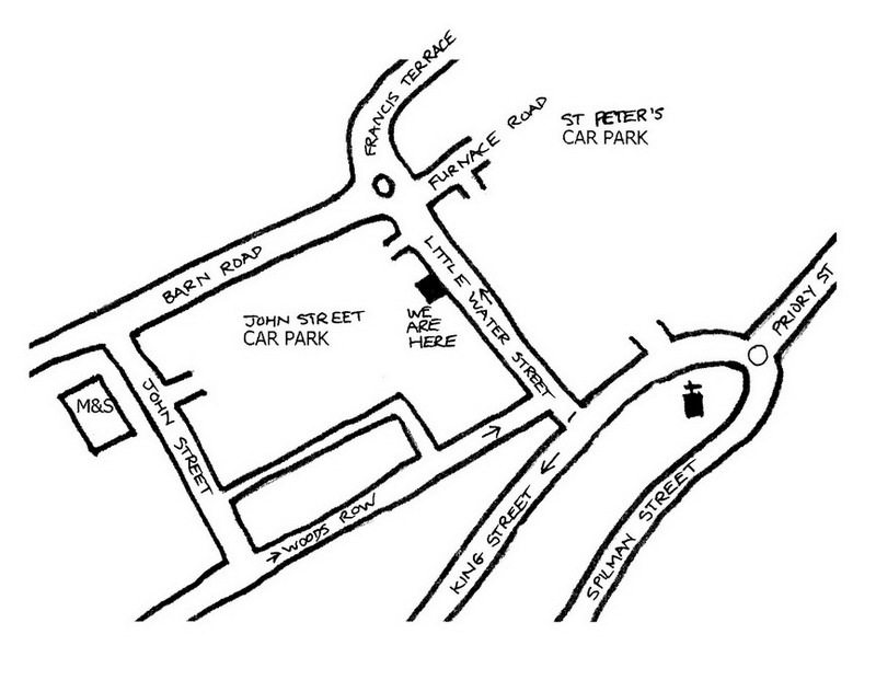 Map of Carmarthen Osteopaths, 56 Little Water St., Carmarthen